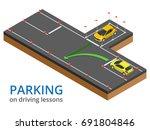 trained in driving school...   Shutterstock .eps vector #691804846