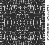 tiled seamless geometric... | Shutterstock .eps vector #691805956