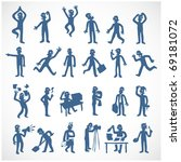 stylized human silhouettes in... | Shutterstock .eps vector #69181072