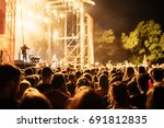 people at a music concert at... | Shutterstock . vector #691812835