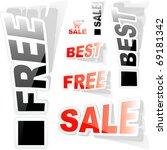 set of design elements for sale.... | Shutterstock .eps vector #69181342