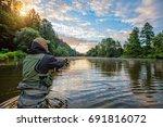 sport fisherman hunting...   Shutterstock . vector #691816072