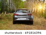 the car on the nature near... | Shutterstock . vector #691816396