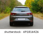 the car on the nature near... | Shutterstock . vector #691816426