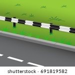 the bend of the road and the... | Shutterstock .eps vector #691819582