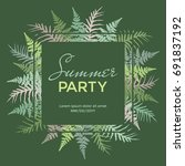 summer party poster  banner ... | Shutterstock .eps vector #691837192