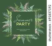 summer party poster  banner ... | Shutterstock .eps vector #691837192