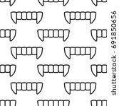 seamless vector monocrome... | Shutterstock .eps vector #691850656
