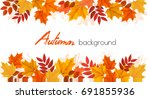 panorama fall autumn colorful... | Shutterstock .eps vector #691855936