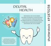 cute teeth design template.... | Shutterstock .eps vector #691870258