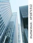building background in tokyo | Shutterstock . vector #691871512