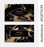 modern black business card with ... | Shutterstock .eps vector #691873195