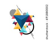 abstract modern geometric... | Shutterstock .eps vector #691880002