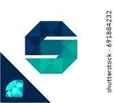 icon logo with a diamond  ... | Shutterstock .eps vector #691884232