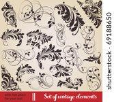 vector set  calligraphic design ...   Shutterstock .eps vector #69188650