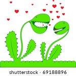two fantastic green lovers... | Shutterstock .eps vector #69188896