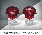 soccer t shirt design slim... | Shutterstock .eps vector #691909912