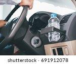 bottled water was left in the... | Shutterstock . vector #691912078