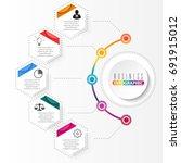vector infographic template... | Shutterstock .eps vector #691915012