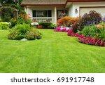 home garden. a carefully...