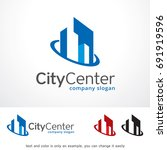 city center logo template... | Shutterstock .eps vector #691919596