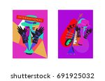 colorful international jazz... | Shutterstock .eps vector #691925032