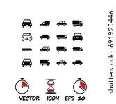 transport icon  stock vector... | Shutterstock .eps vector #691925446