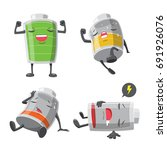 battery man action cartoon...   Shutterstock .eps vector #691926076