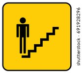 stairs sign yellow. vector. | Shutterstock .eps vector #691928296