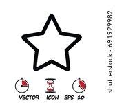 star icon   stock vector... | Shutterstock .eps vector #691929982