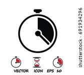 stopwatch icon  stock vector... | Shutterstock .eps vector #691934296