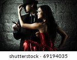 Fashion photo of handsome man and women - stock photo