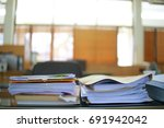 paper business documents of... | Shutterstock . vector #691942042