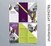 brochure design  brochure... | Shutterstock .eps vector #691942786