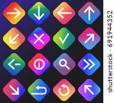 gradient buttons with web... | Shutterstock .eps vector #691944352