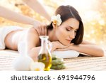 beautiful  young and healthy... | Shutterstock . vector #691944796