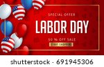 labor day sale promotion... | Shutterstock .eps vector #691945306