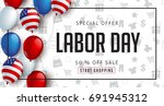labor day sale promotion... | Shutterstock .eps vector #691945312