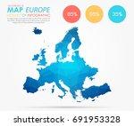 infographics   polygonal... | Shutterstock .eps vector #691953328