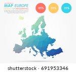 infographics   polygonal... | Shutterstock .eps vector #691953346