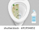 toilet cleaner gel ads.... | Shutterstock .eps vector #691954852