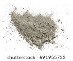 grady cement powder isolated on ... | Shutterstock . vector #691955722