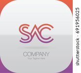 logo letter combinations s  a... | Shutterstock .eps vector #691956025