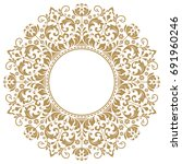 decorative line art frames for... | Shutterstock . vector #691960246