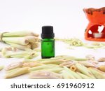lemongrass oil   spa concept. | Shutterstock . vector #691960912