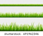 green grass meadow border... | Shutterstock .eps vector #691962346