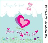 valentine's day. butterflies | Shutterstock .eps vector #69196243