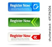 register now modern minimal... | Shutterstock .eps vector #69196306