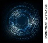 vector abstract background... | Shutterstock .eps vector #691965958