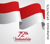 indonesia independence day... | Shutterstock .eps vector #691967476